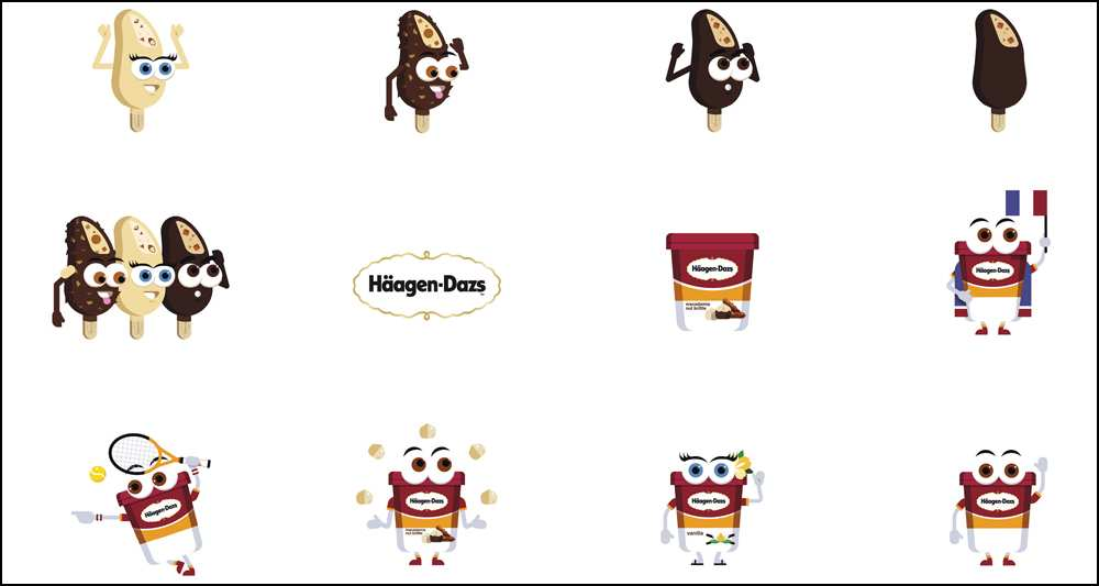 Idées marketing: Emojis Marketing Häagen-Dazs - Message in a Window