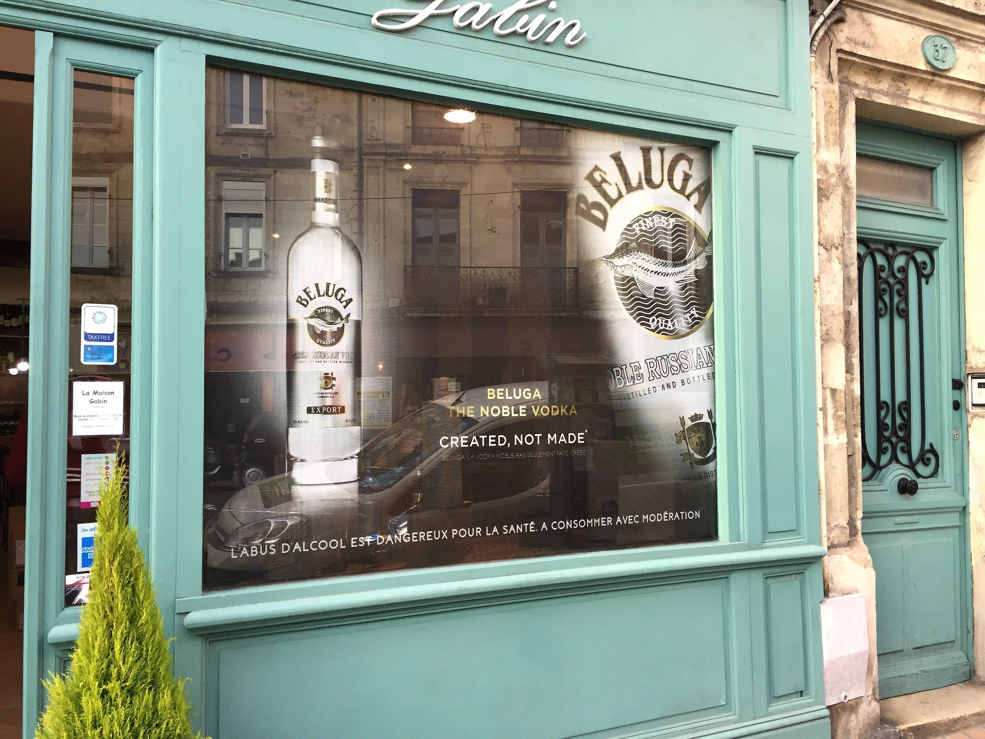 Campagne pour la vodka Beluga - Maison Gabin
