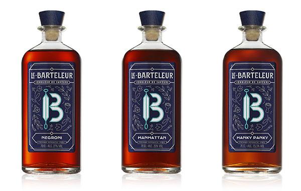 Le Barteleur : cocktails Negroni, Manhattan, Hanky Pankyanhattan,