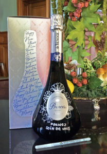 Champagne Princes Message on a Bottle par De Venoge